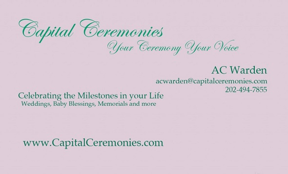 Capital Ceremonies Business Card